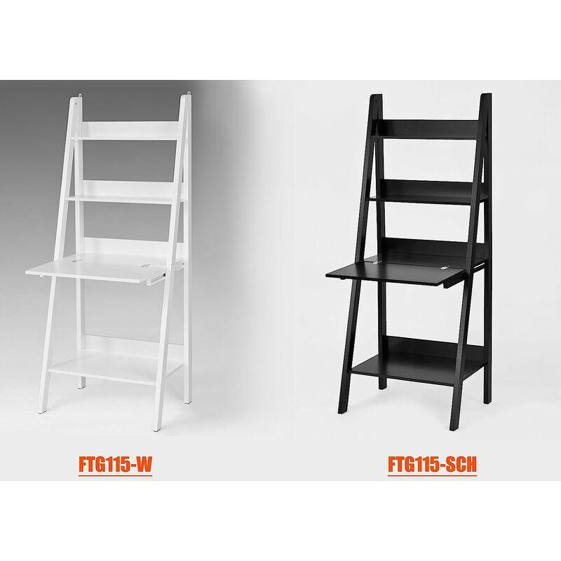 Bureau Table Etagere Murale Style Echelle De 3 Tablettes 1 Plan