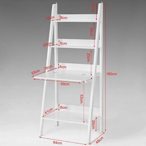 bureau table tag re murale style chelle de 3 tablettes. Black Bedroom Furniture Sets. Home Design Ideas