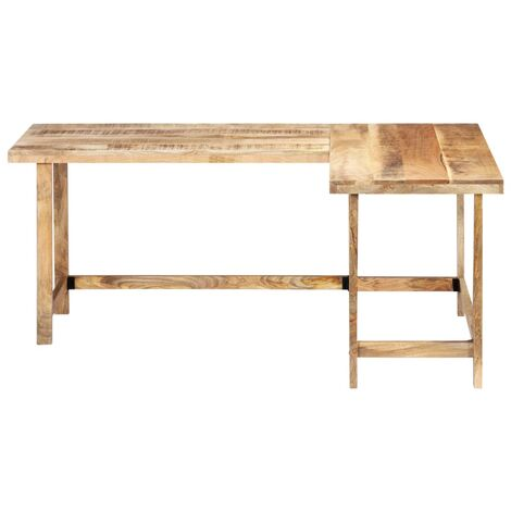 Bureau table meuble travail informatique 120 cm bois de manguier massif