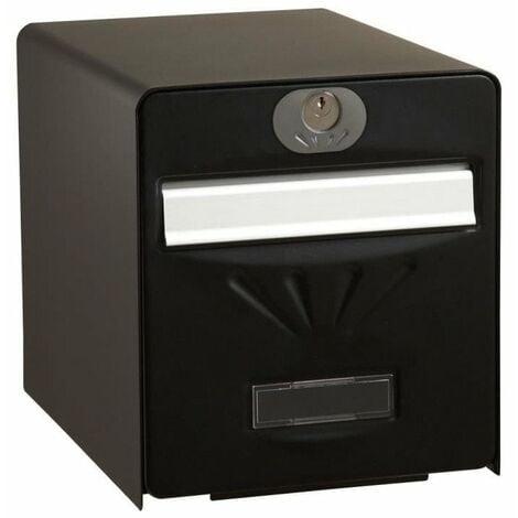 BURG WACHTER Boîte aux lettres Balnéaire en acier galvanisé - Porte arriere vitrée - Noir