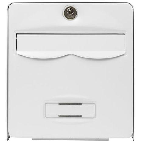BURG-WÄCHTER - Boîte aux lettres galvanisé Mini Balthazar - 1 porte - blanc