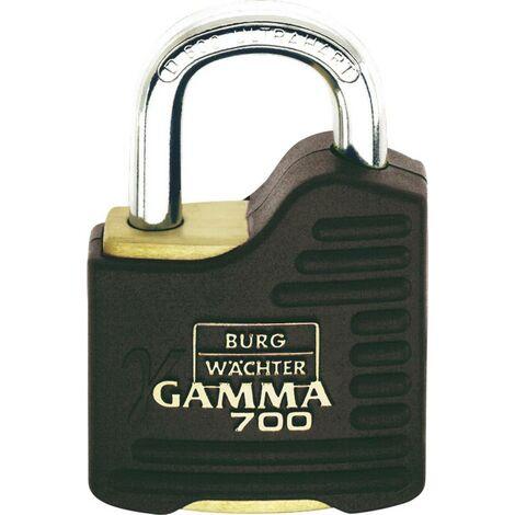 Burg Wächter Gamma 700 55 SB Vorhängeschloss Messing, Schwarz Profilzylinder-Vorhangschloss S010911