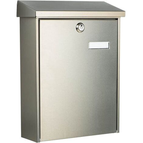 BURG-WÄCHTER Letterbox Oslo 3767 Ni Stainless Steel Silver