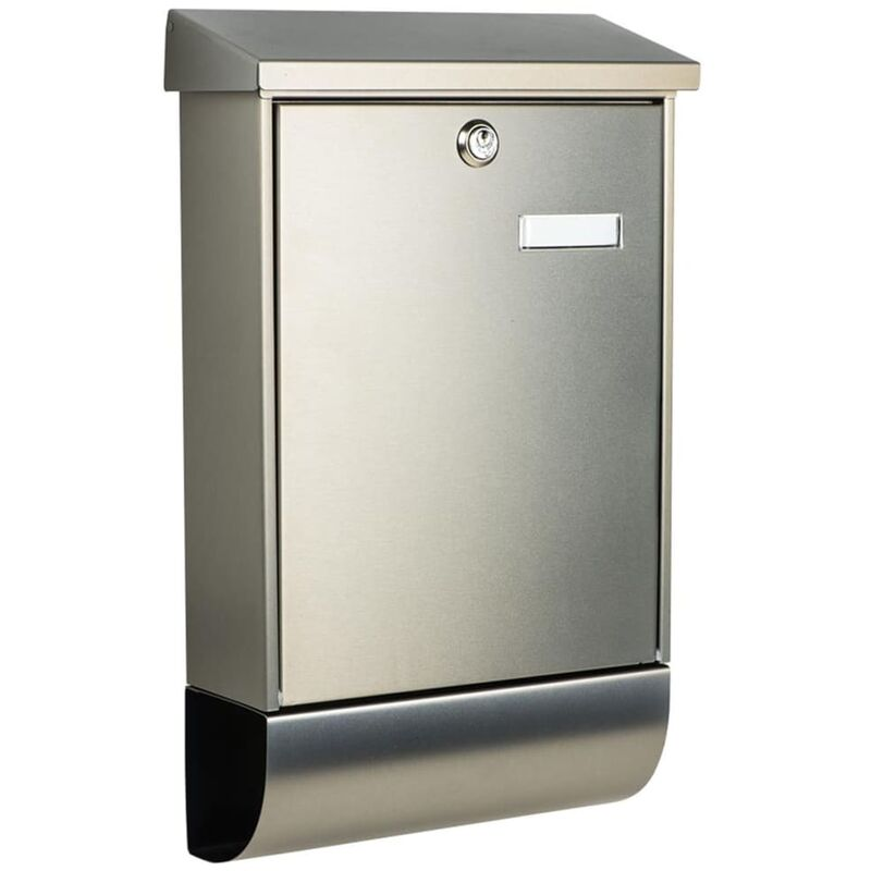 Image of BURG-WÄCHTER Letterbox Oslo-Set 37670 Ni Stainless Steel Silver - Silver