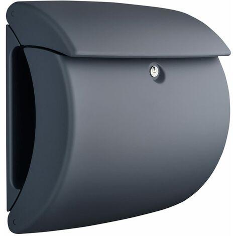 BURG-WÄCHTER Letterbox Pearl 886 GR Plastic Granite - Grey