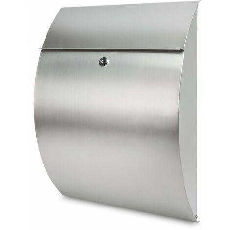 BURG-WÄCHTER Letterbox Riviera 3835 Ni Stainless Steel Silver