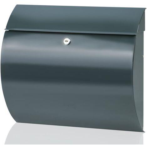 "main image of ""BURG-WÄCHTER Letterbox Toscana 856 ANT Steel Anthracite - Grey"""