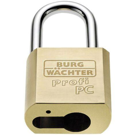 Burg Wächter Profi 116 PC 50 Vorhängeschloss Messing Profilzylinder-Vorhangschloss S941341