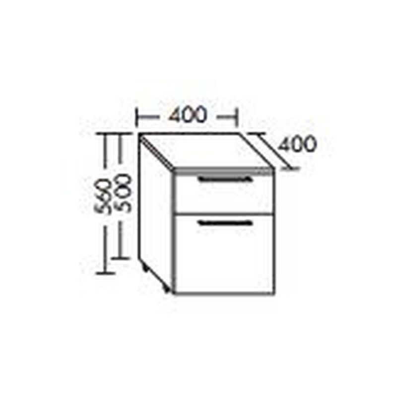 Rollcontainer, 1 Auszug, 1 Schublade, RcaE040 - Burgbad