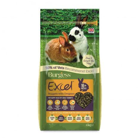 Burgess Excel Conejo Adult Orégano Alimento para Conejos - 2Kg