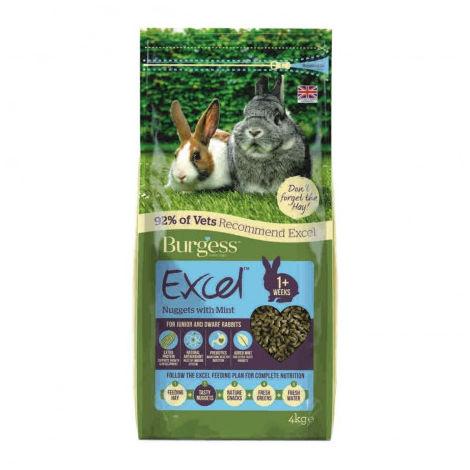 Burgess Excel Conejo Junior & Enano Alimento - 4Kg