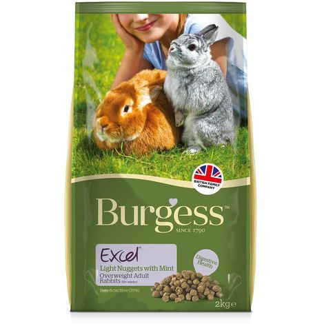 Burgess Excel Rabbit Light Nuggets (2kg) (May Vary)