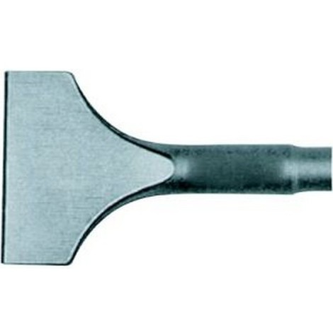 Burin SDS-plus avec douille de fixation SDS-plus, Modèle : Burin bêche, Larg. : 40 mm, Long. 250 mm