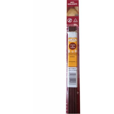 Burlete adhesivo antideslizante PVC marrón 25x800 mm 4 ud