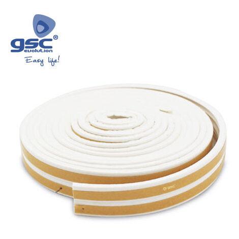 Burlete adhesivo caucho 9mm 6M Blanco GSC 003803808