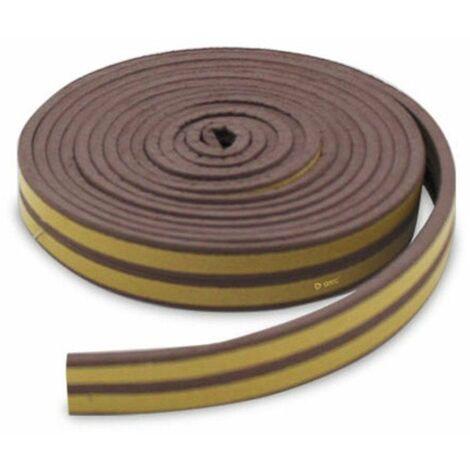 Burlete adhesivo caucho 9mm 6M Marrón GSC 003803809