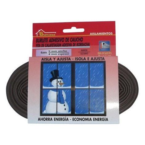 Burlete adhesivo caucho puertas/ventanas