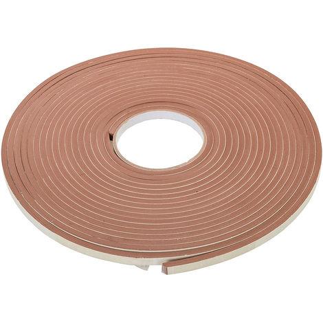 Burlete adhesivo con contorno en E 3 - 5 mm / 15 m, marrón - NEOFERR