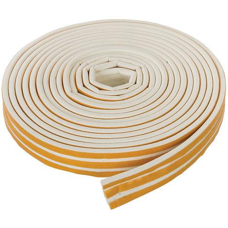Burlete adhesivo con contorno en P 3 - 5 mm / 15 m, blanco - NEOFERR