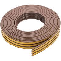 Burlete adhesivo con contorno en P 3 - 5 mm / 15 m, marrón