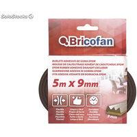 Burlete adhesivo de goma EPDM 5M X 9MM Medida mm:-5m x 9mm 6 unidades