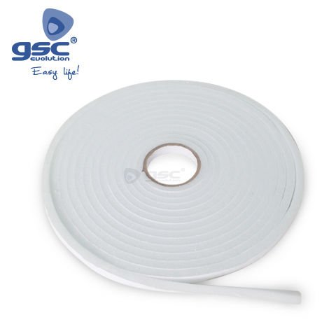 Burlete adhesivo espuma 12mm - 10M Blanco