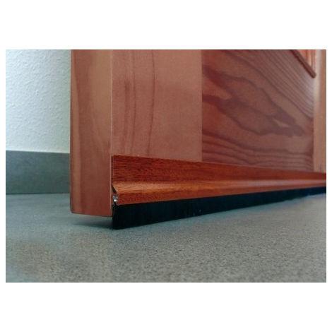 Burlete aluminio c/flecos bajo puerta