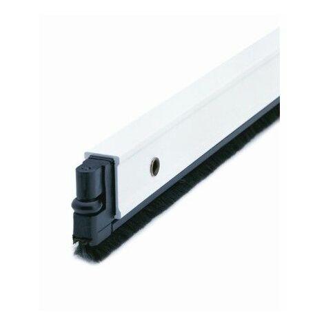 Burlete Bajo Puerta 082Cm Tornillos Cepillo Aluminio Blanco Almalock-2 Alma
