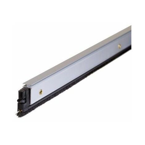 Burlete Bajo Puerta 092Cm Tornillos Cepillo Aluminio Plata Almalock-2 Alma