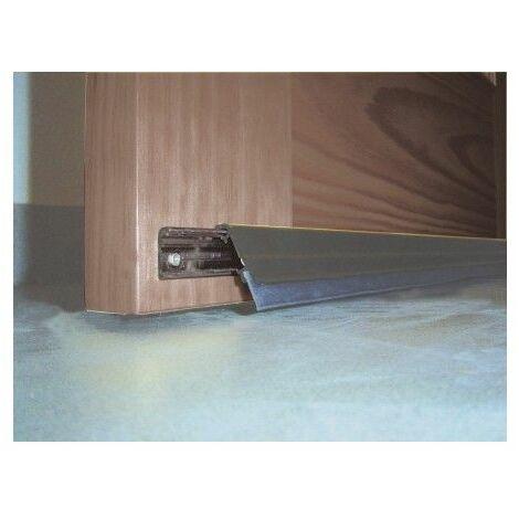 Burlete Bajo Puerta 093Cm Tornillos Interior/Exterior Cepillo Aluminio Bronce Basculante Burcasa
