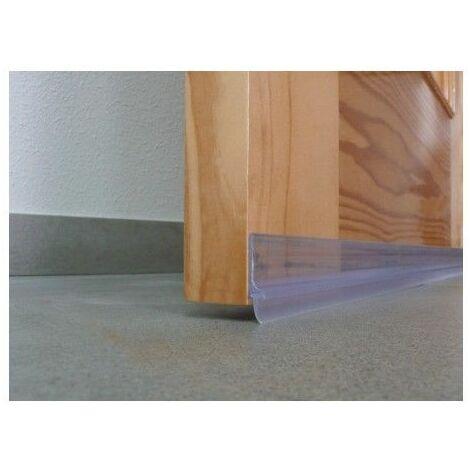 Burlete Bajo Puerta 100Cm Adhesivo Labio Pvc Transparente Burcasa