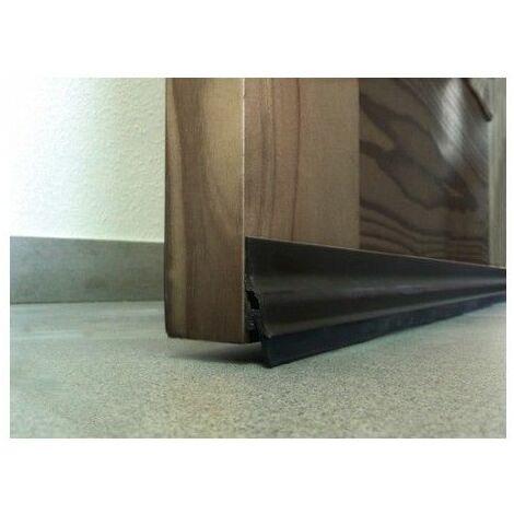 Burlete Bajo Puerta 105Cm Adhesivo Labio Aluminio Bronce Burcasa