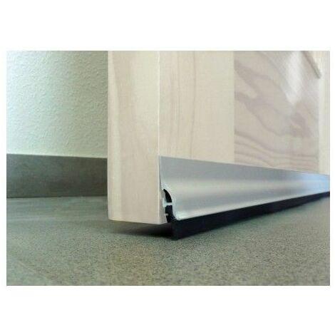 Burlete Bajo Puerta 105Cm Adhesivo Labio Aluminio Plata Burcasa