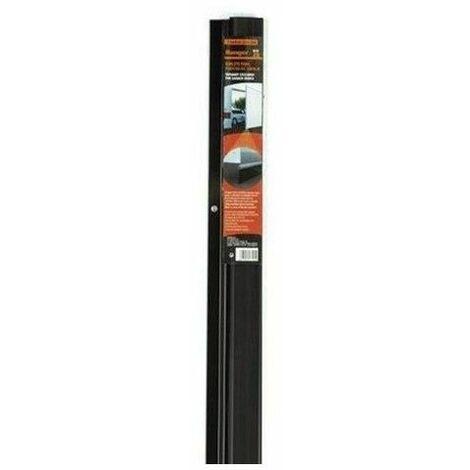 Burlete bajo puerta rigido para garaje Miarco 20874 negro 3mt (2x1.5)