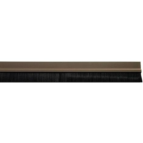Burlete puerta pvc marron con cepillo 1metro