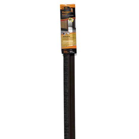 Burlete puerta PVC rígido marrón - talla