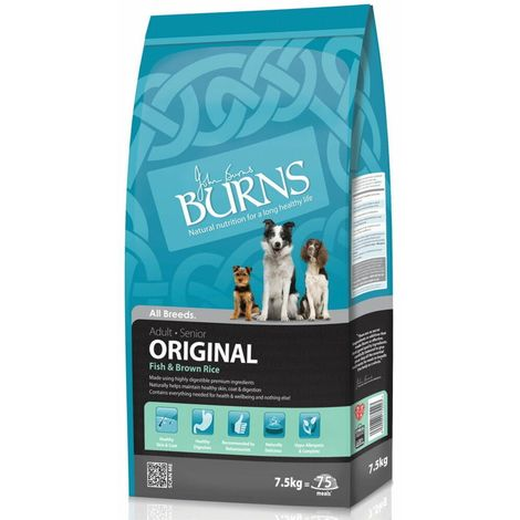 """main image of """"Burns Adult Original Fish And Brown Rice Hypoallergenic Complete Dry Dog Food (2kg) (May Vary)"""""""