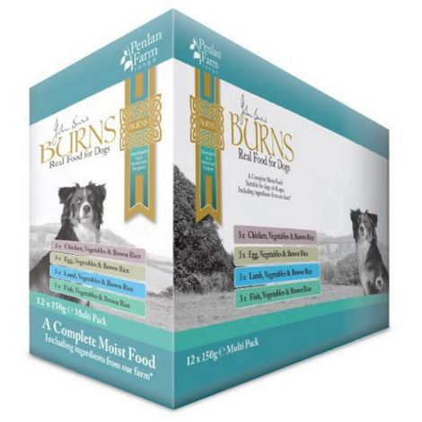 Burns Penlan Mixed Variety Complete Wet Dog Food (12 Pouches) (12 x 150g) (May Vary)