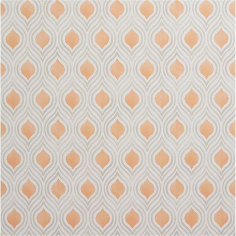 Burnt Orange Geometric Wallpaper Beige Cream Paste Wall Fine Decor Ailsa