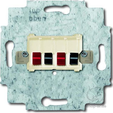 Busch-J. Lautsprecher-Anschlussdose 2fach, weiß 0248/02-101