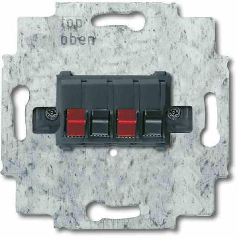 Busch-Jäger Tragring Lautsprecheranschluss schwarz matt Krallen-/Schraubbefestigung ohne Beschriftungsfeld