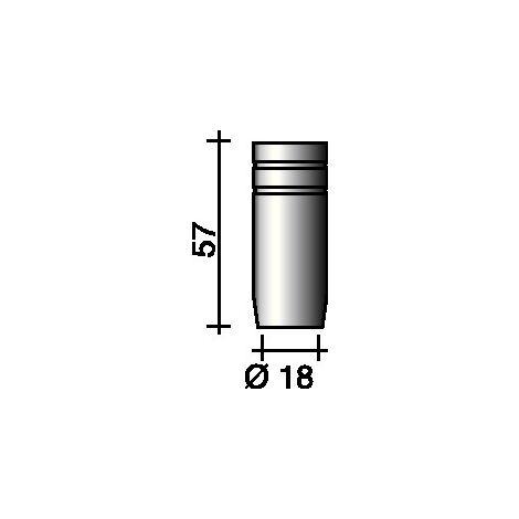 Buse à gaz cylindrique 18 mm adapté à ERGOPLUS 25