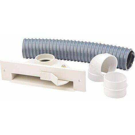 Buse à socle fixe avec kit d´installation, en plastique blanc