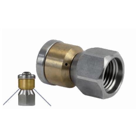 Buse de canalisation rotative 1/4F - calibre - 04