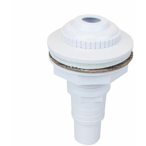 Buse de refoulement pour piscine hors sol avec connecteur pour tuyau 32 et 38 mm - Blanc - Linxor