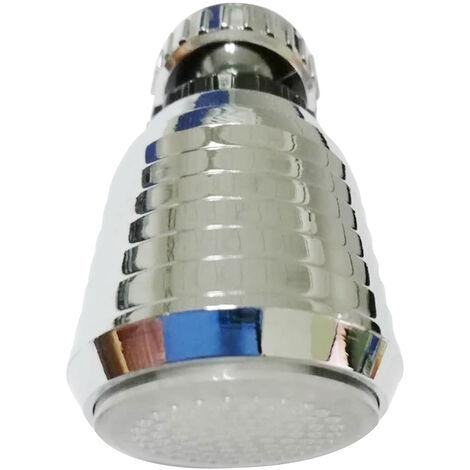 Buse de robinet lumineuse LED universelle a 360 degres LD8001-B16 (interface de filetage interne 22 mm), changement de couleur automatique colore