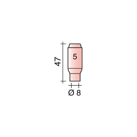 Buse gaz en céramique standard Ø 8 mm Longueur 47 mm