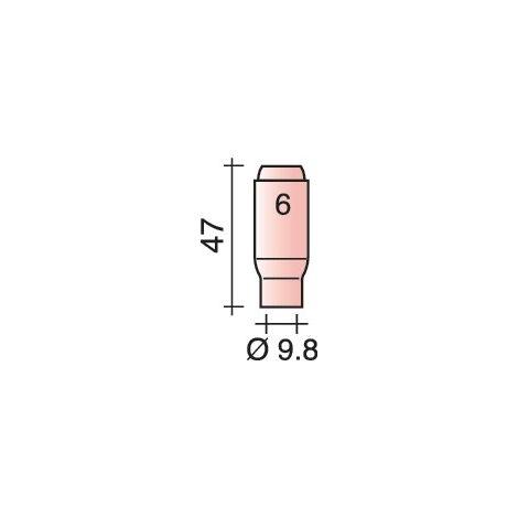 Buse gaz en céramique standard Ø 9,8 mm Longueur 47 mm