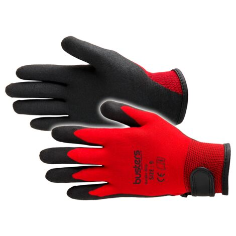 Busters Jardín Grip guante Red S / M (7) - Rood