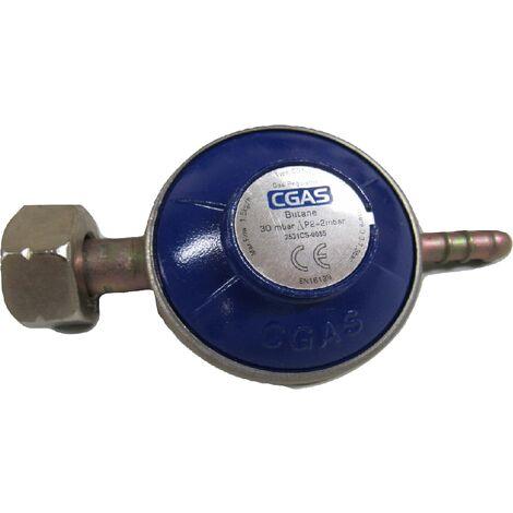 "main image of ""Butane Gas Regulator with G8 Nut - Calor Gas Screw On 30mbar"""
